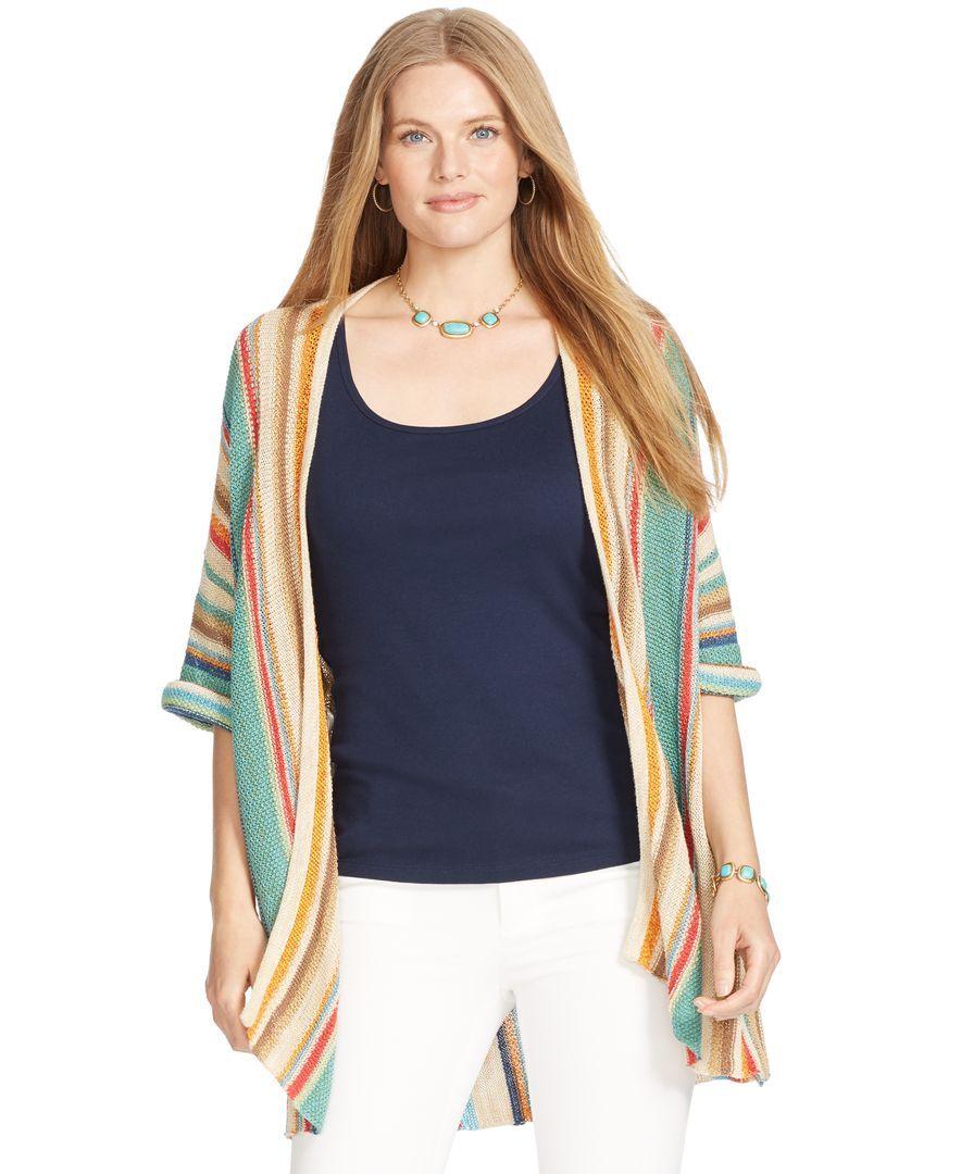 Lauren Ralph Lauren Plus Size Striped Kimono | Products ...
