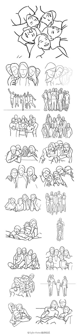 21个团体照拍摄姿势。图片来自豆瓣相册: http://www.douban.com/photos/album/73578955/ - 堆糖 发现生活_收集美好_分享图片