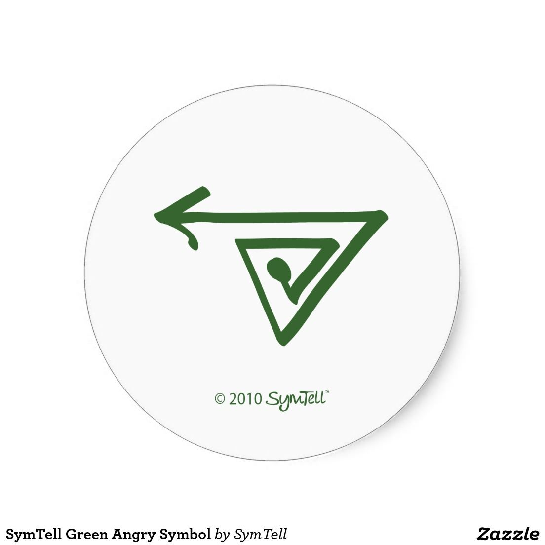 Symtell green overwhelmed symbol classic round sticker round symtell green overwhelmed symbol classic round sticker round stickers symbols and rounding biocorpaavc Gallery