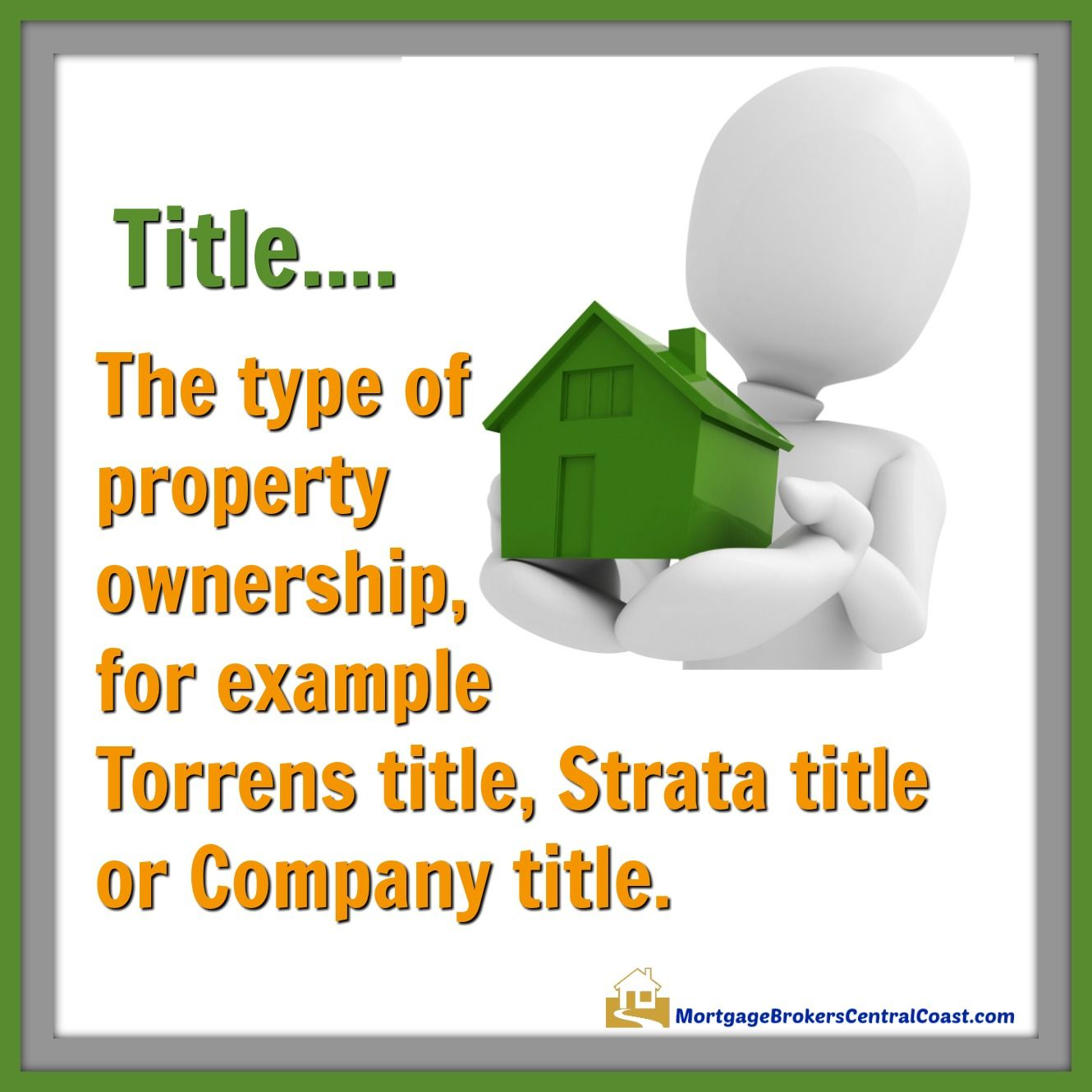 Title The Type Of Property Ownership For Example Torrens Title