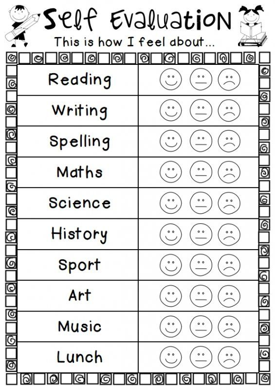 Here is a quick self evaluation to get an overview of how students feel about a range of subjects.do each term or at the beginning and end of the year.