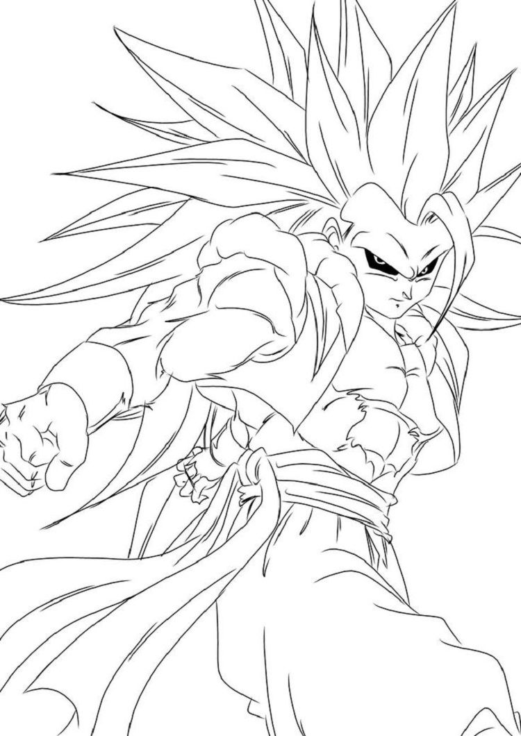 Dragon Ball Z Coloring Pages Gogeta Desenhos dragonball