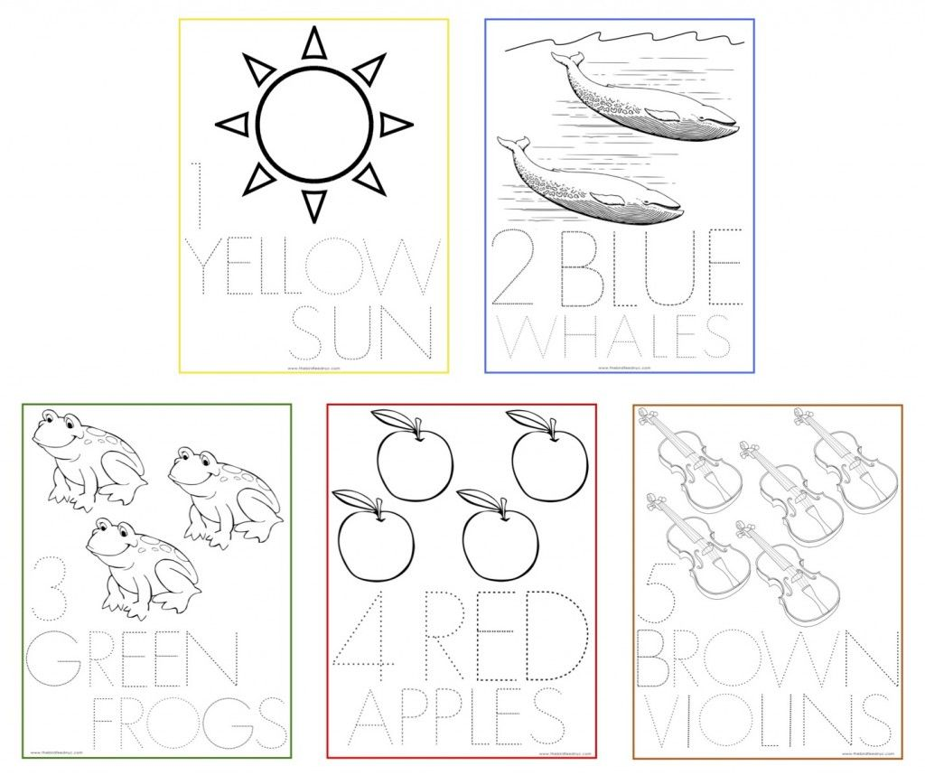 Free Printable Number Coloring Sheets