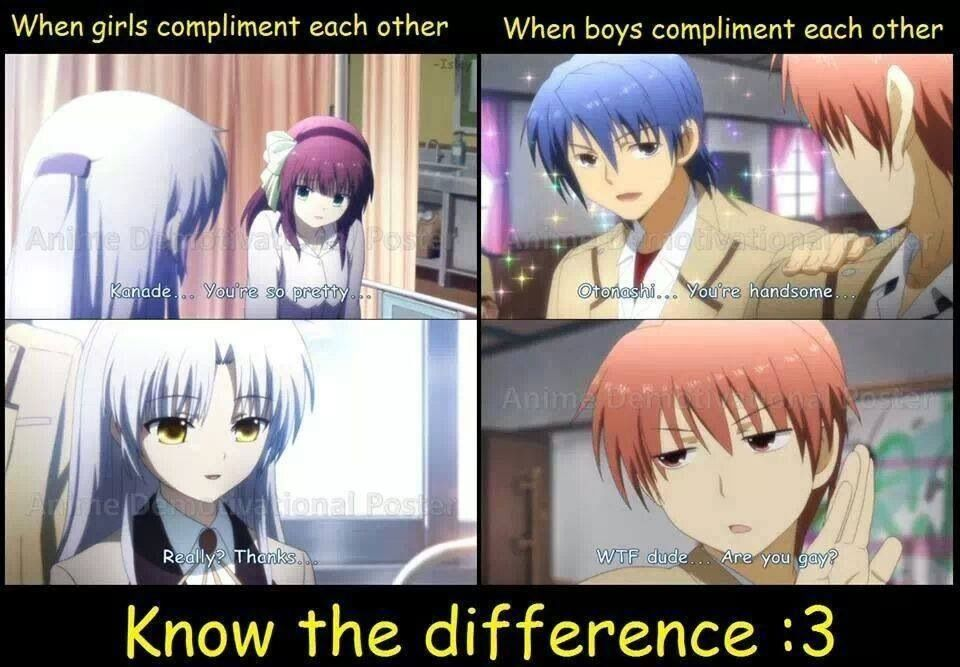 angel beats..LOOL know the difference