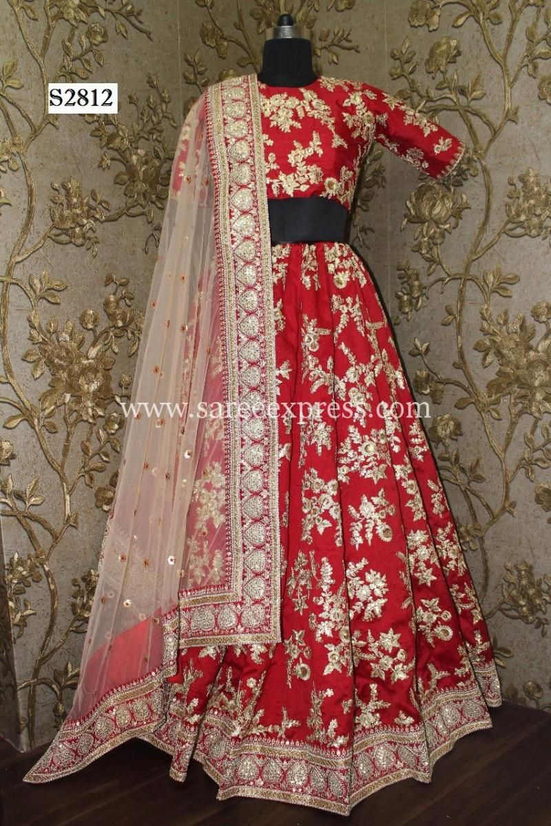 04592e7bc4fb1 Stunning Heavy Embroidered Royal Bridal Wedding Lehenga