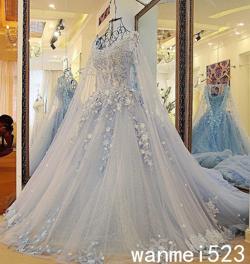 Wedding Dress Princess Gothic Shiny Bead Medieval Bridal Gown Fairy ...