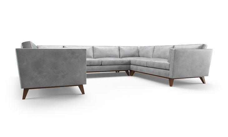 Roller Leather U-Sofa Sectional | Products
