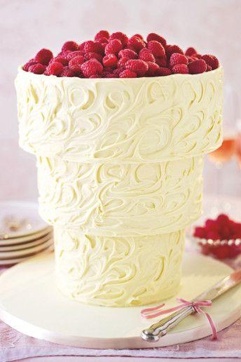 Upside Down White Chocolate Swirl Wedding Cake GBP229 Marks Spencer