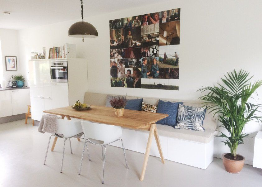 Kussens voor eetbank  Keuken in 2019  Eetkamer idee