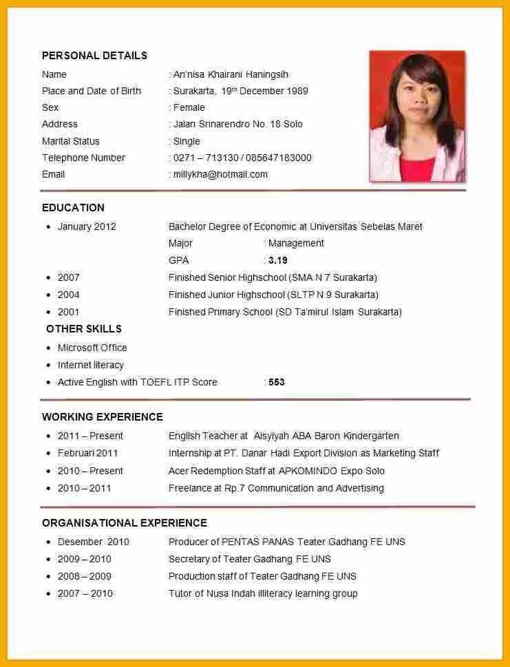 Format Of Curriculum Vitae Pdf Inspirational Cv Examples Pdf En Job Resume Format Job Resume Samples Job Resume Examples