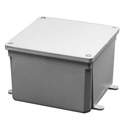 Carlon 4 In X 4 In X 2 In Pvc Junction Box Case Of 5 Electrical Conduit Fittings Conduit Box Junction Boxes