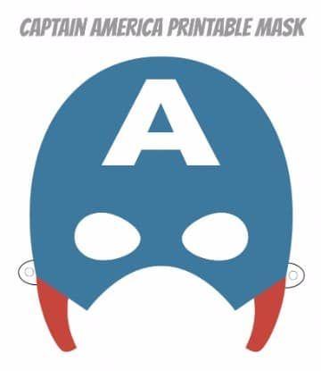 Mascaras De Superheroes Para Imprimir De Capitan America Mascaras De Superheroes Mascaras De Super Heroe Imprimir Sobres
