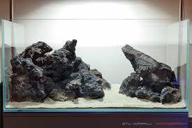 Aquascape With Lava Rock Aquascape Design Fresh Water Fish Tank Aquarium Sand