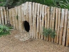 fence & tunnel backyard play-someday I WILL have something like this in my yard... perhaps it will be for the grandkids (or me, lol) but SOMEDAY!!