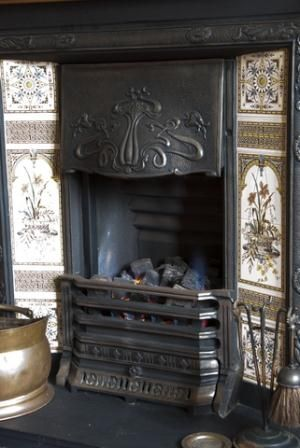 This type of coal burning fireplace was mostly used in bedrooms in Victorian houses. Coal was used because it burned slower and keep the bedroom heated longer.