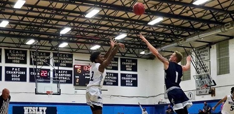 Cameron Bloodsworth Combine For 50 Points In Wesley S 76 73 Win Vs Gwynedd Mercy In 2020 College Athletics College Basketball Teams College Sports