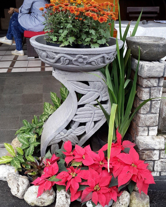 Dekorasi Taman Dengan Pot