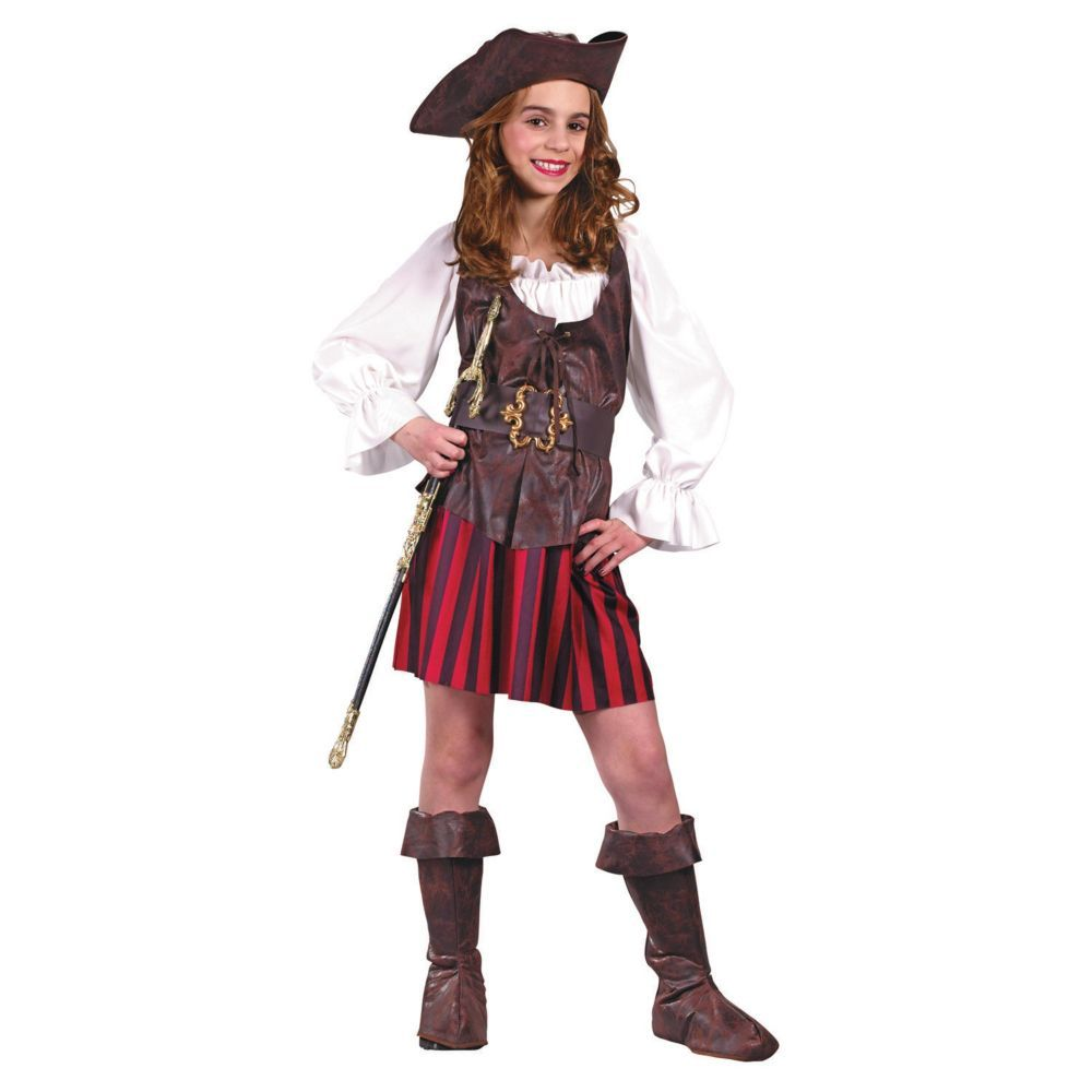 WOMENS SASSY PIRATE WENCH FANCY DRESS COSTUME LADIES HIGH SEAS BUCCANEER OUTFIT