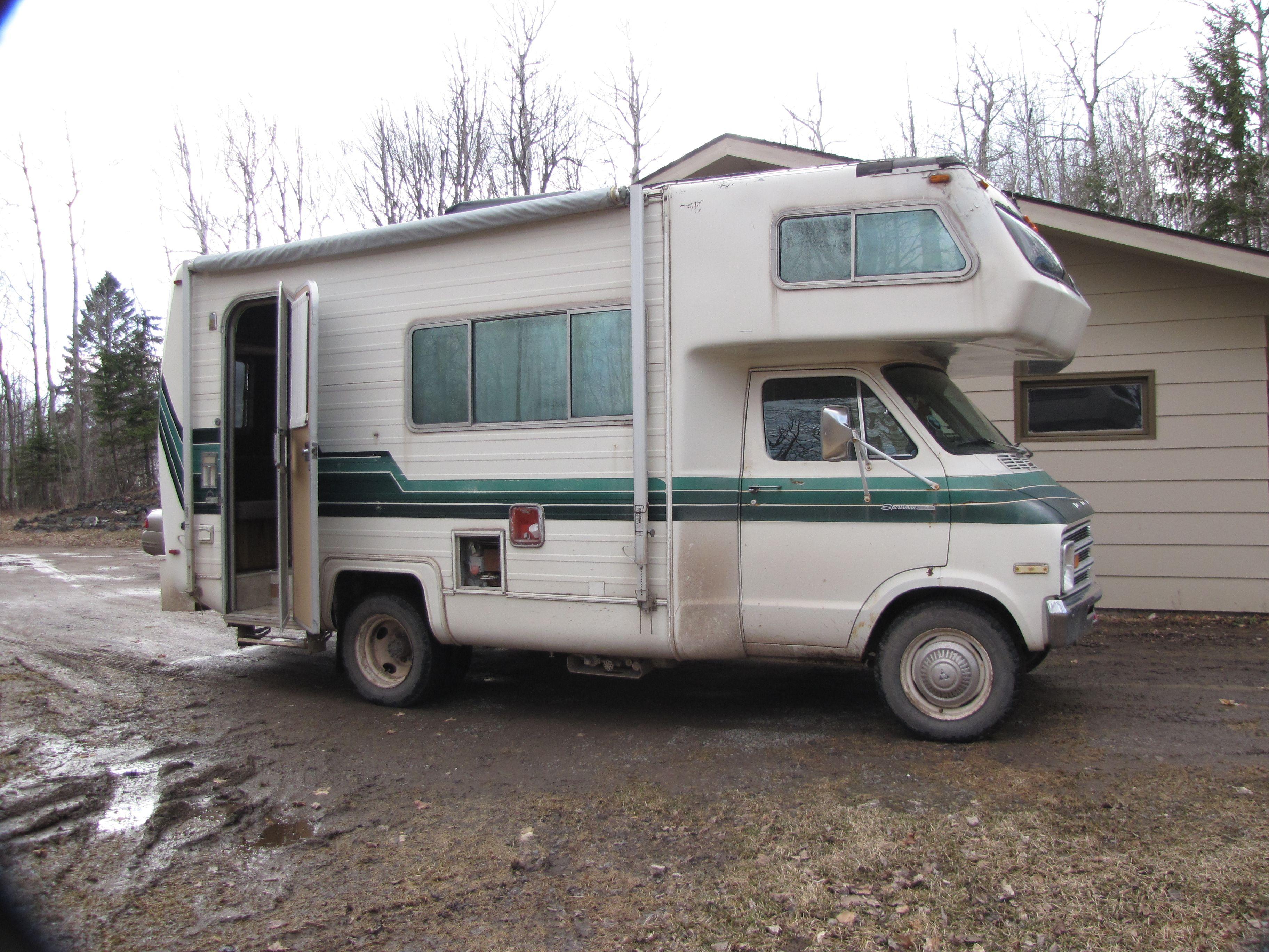 1975 Dodge Sportsman Rv Aka The Mean Green Machine Dodge Sportsman Vintage Rv Vintage Camper