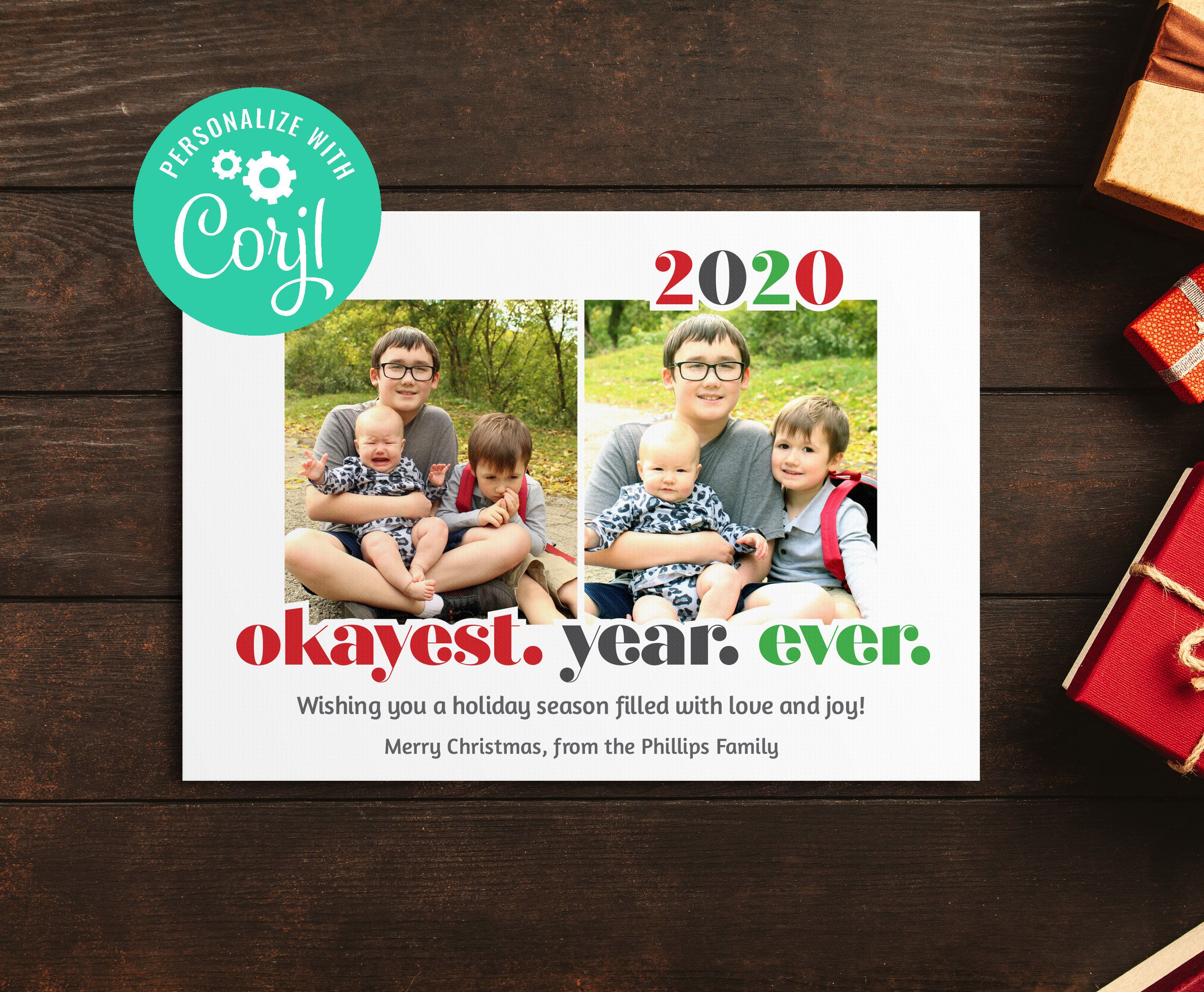 Funny Christmas Card 2020 Holiday Card Okayest Year Ever 2 Etsy In 2021 Funny Holiday Cards Christmas Cards Holiday Cards Family
