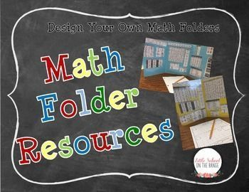 This is perfect for designing your own Math folders! It allows for you or your students to create Math folders that can be used as a resource all year long. We use them in our classroom as Privacy Folders. This contains the following resource information