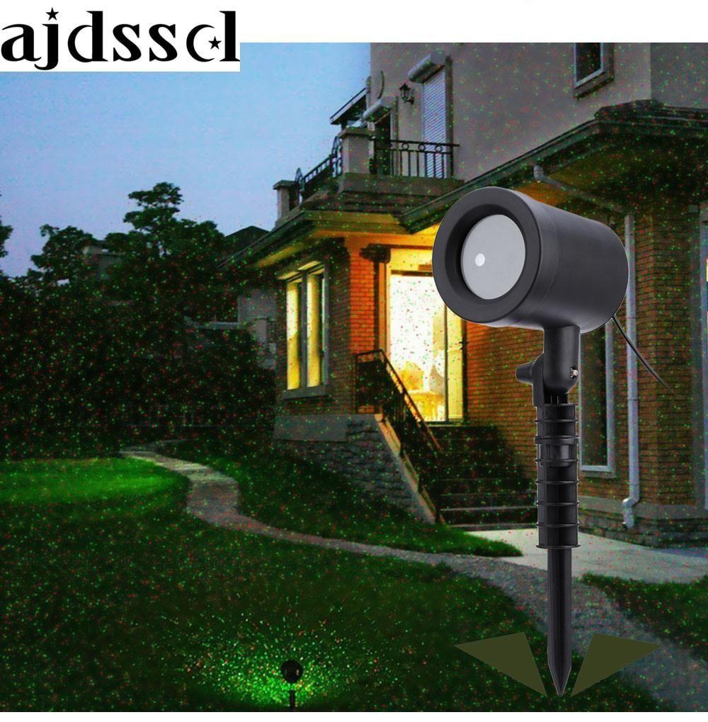 1pcs Led Ground Outdoor Laser Projector Sky Star Spotlight Showers Landscape Dj Disco Lights R G Garden Lawn Christmas Party Disco Lights Outdoor Lawn Outdoor Fairy Lights