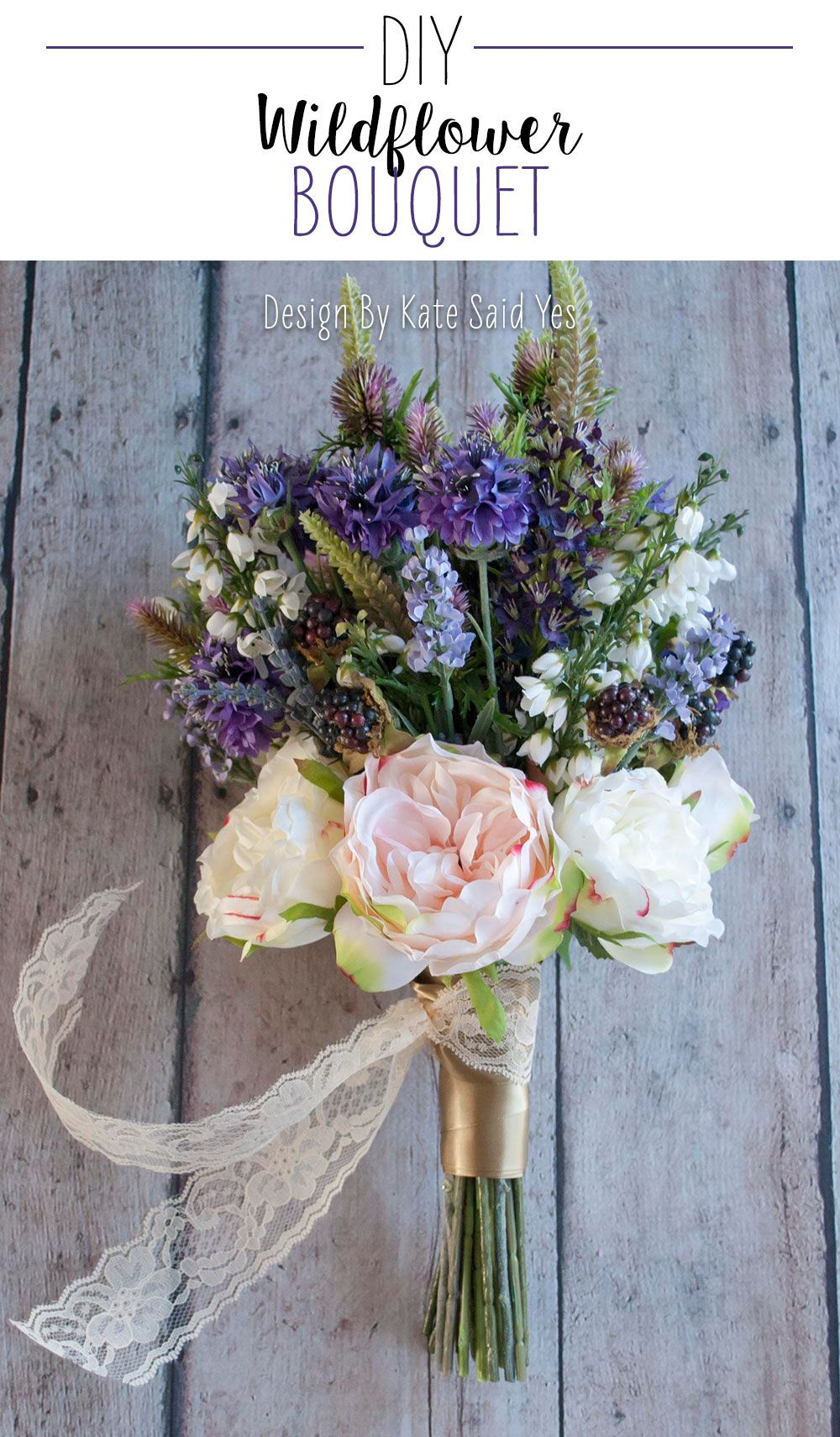 Diy silk flower wedding bouquets colour diy wedding bouquet bride learn how to make this beautiful wildflower bouquet with premium quality silk flowers from http izmirmasajfo