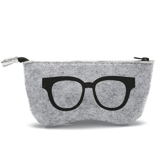 9baa1879a113 Colorful Sunglasses Case For Women Men Glasses Box Felt Sunglasses Bag  Eyeglasses cases Eyewear Accessories