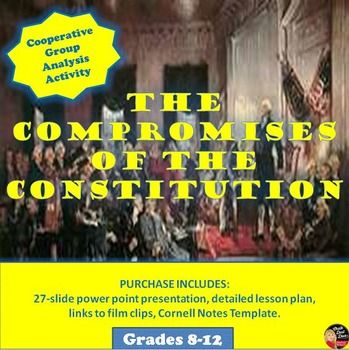 Compromises of the Constitutional Convention Group Activity - print