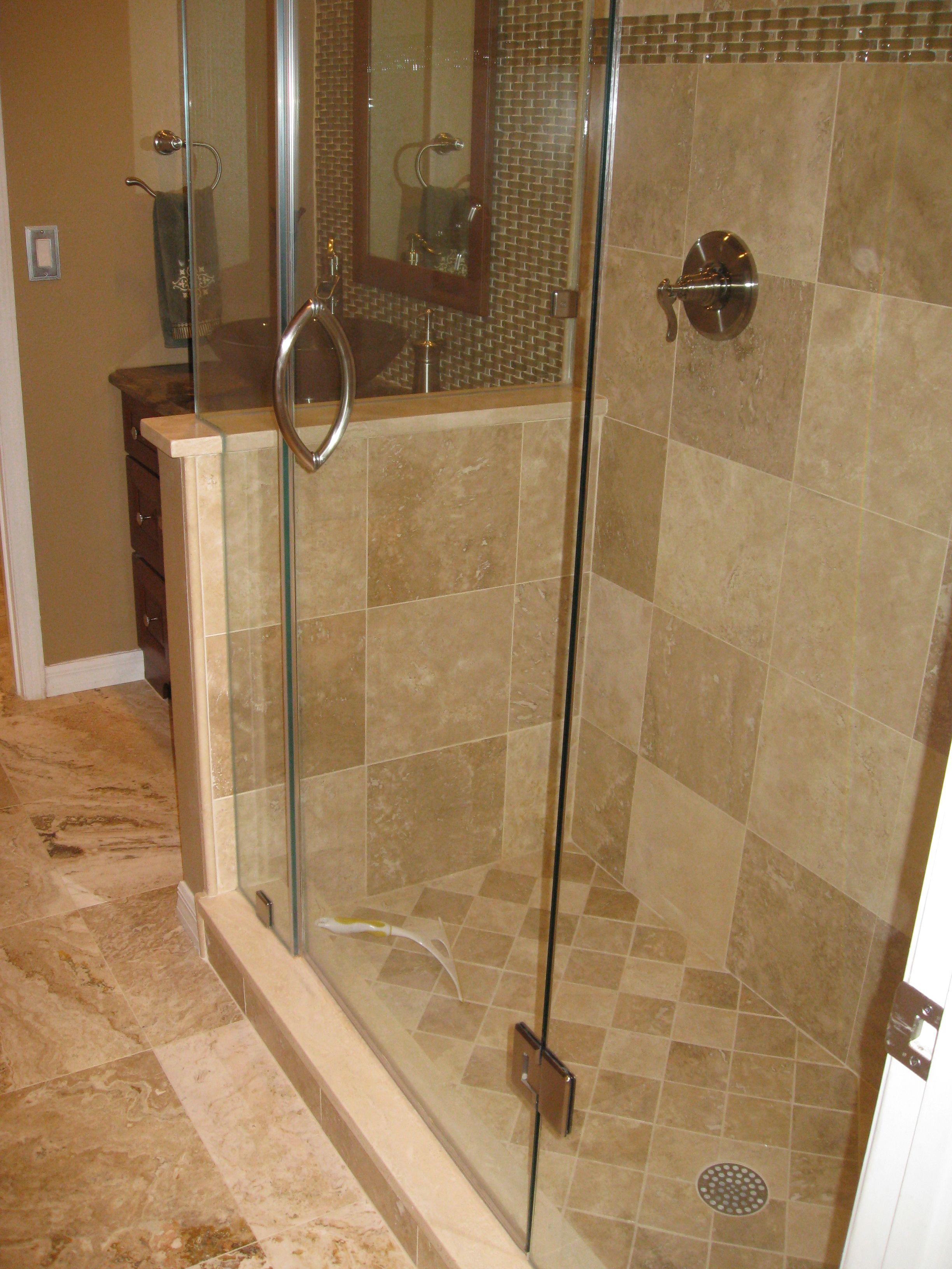 best bathroom tile travertine wall dark accessories