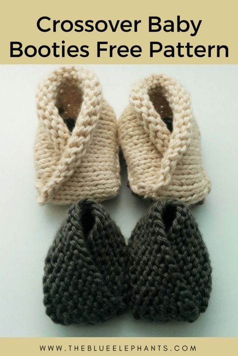 Crossover Baby Booties 2 Free Knitting Patterns For Beginners