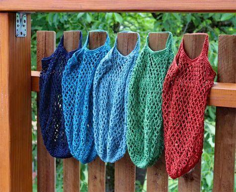Häkelnetze als Alternativen zum Verpackungswahn #crochetelements