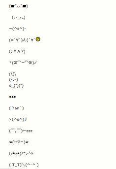 kawaii text faces arts