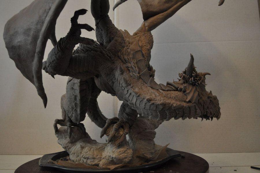 Dragon Wyrm Sculpt WIP 11 by AntWatkins on deviantART