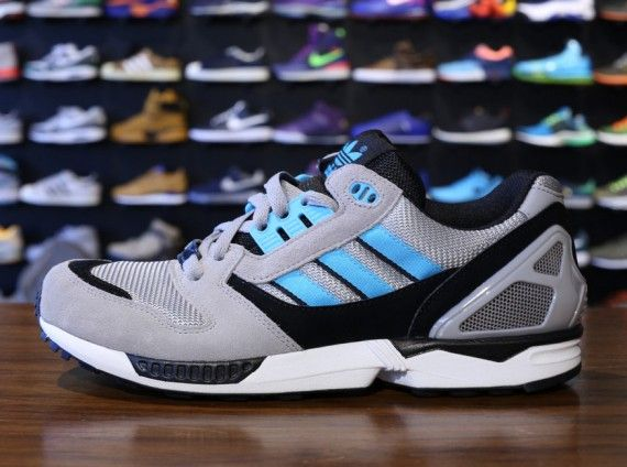 Adidas ZX 8000 Mens Trainers in Grey Blue