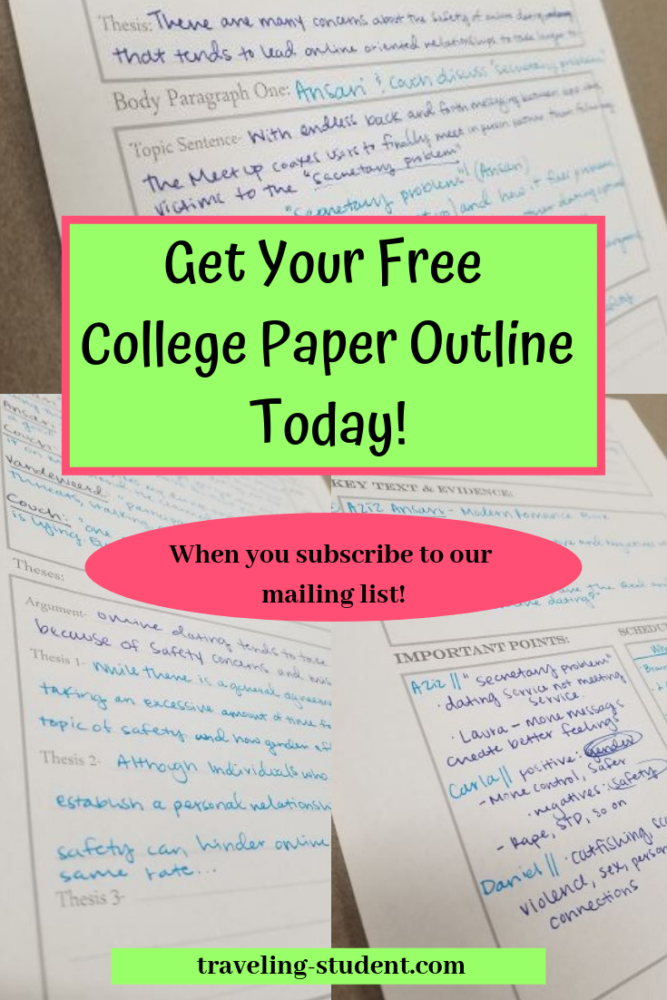 FREEBIE: How to Write a College Paper  Topic sentences, Student