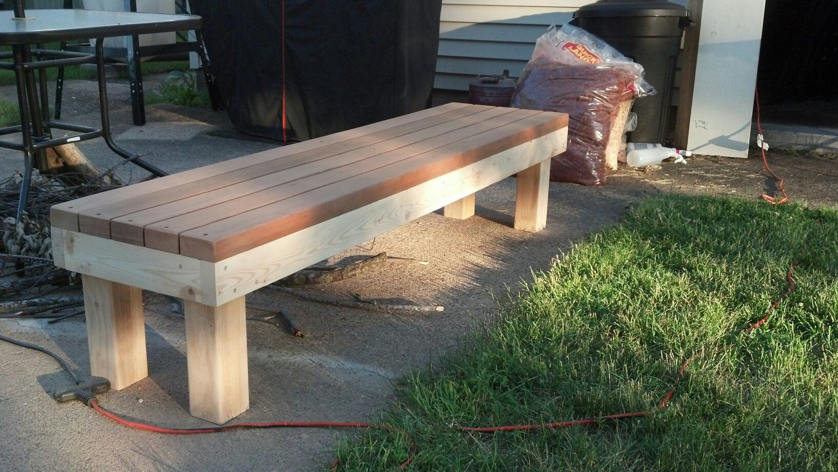 Simple 2x4 Bench | Seating | Pinterest | 2x4 bench, Woodworking and Woods