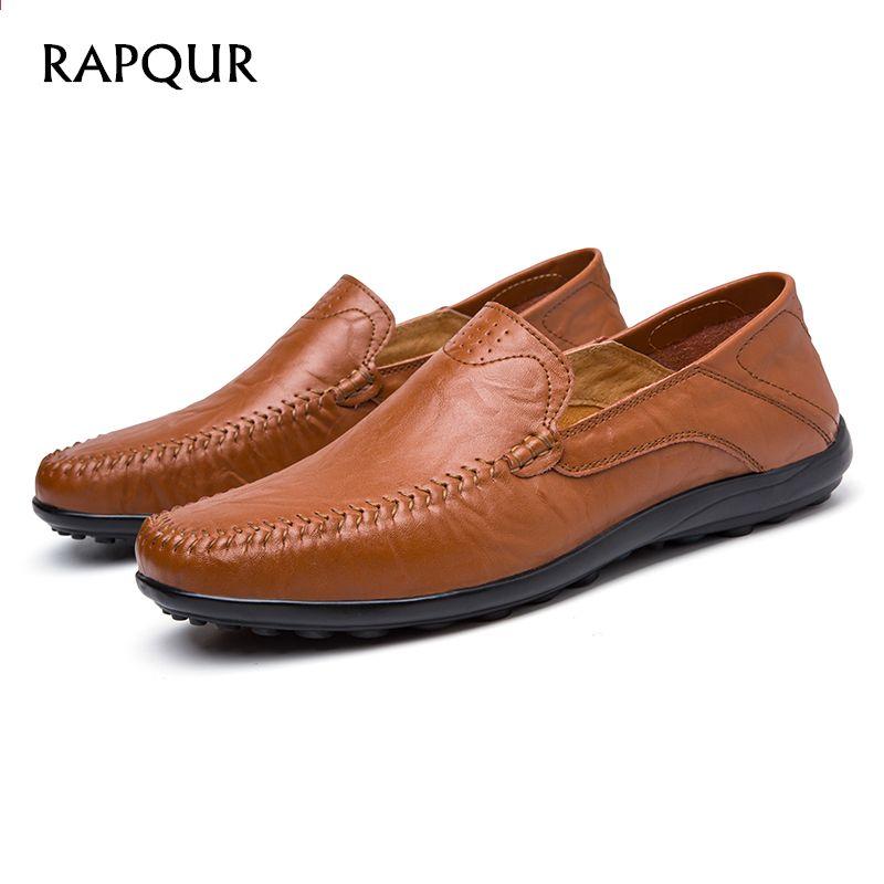 new arrival 800f3 ec440 पुरुषों के जूते आरामदायक असली चमड़े की ग्रीष्मकालीन loafers आरामदायक जूता  फ्लैट फ्लैट ...