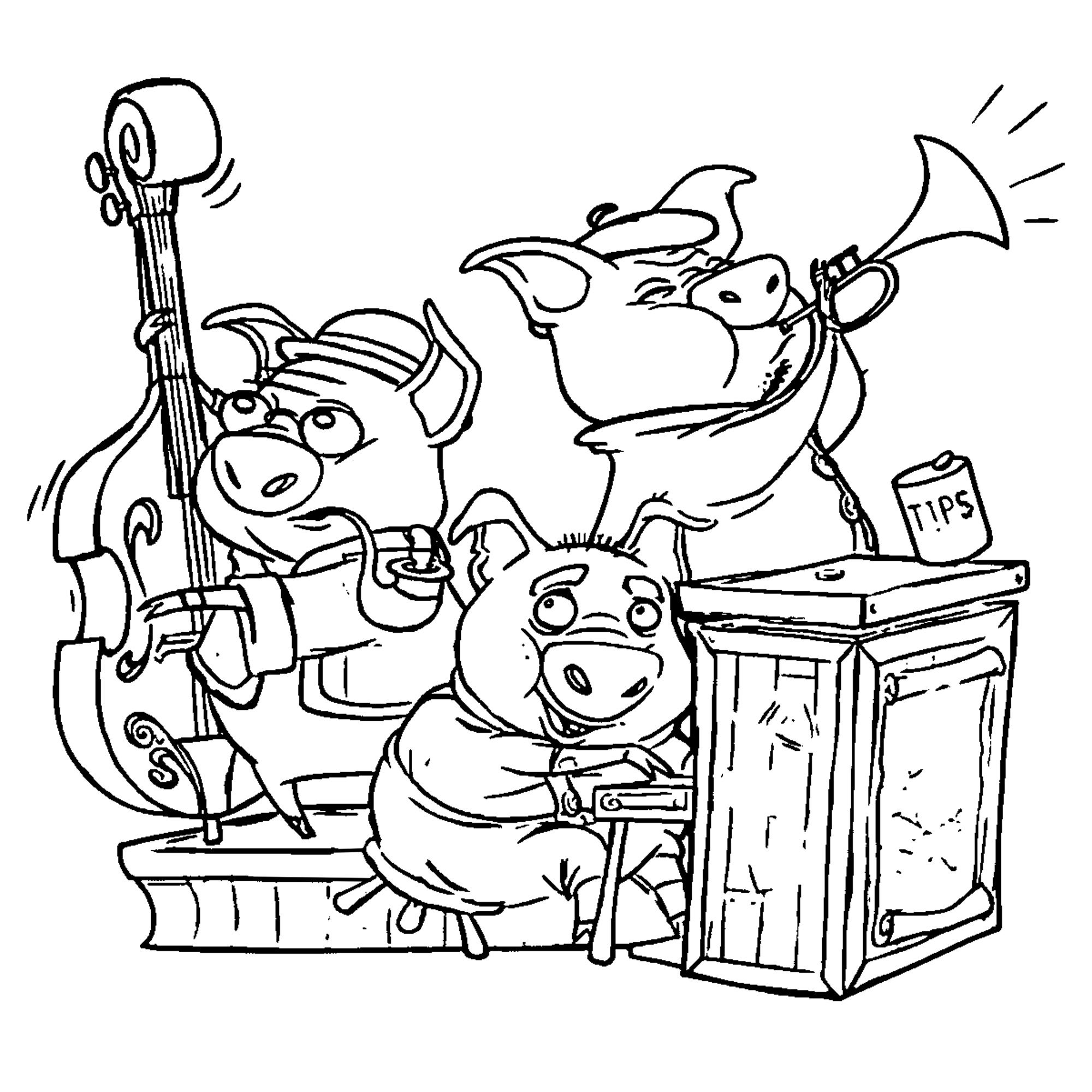 Nice 3 Little Pigs Vanhoozer Coloring Pages With Images