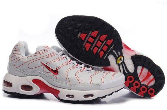 Nike Air Max Tn Mens Cobweb White Red | Chaussure nike pas cher ...