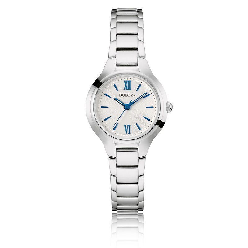 Bulova Ladies Classic Blue Markers Stainless Steel Watch