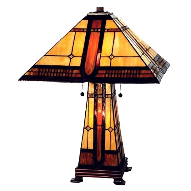 Mission tiffany lamps lighting stained glass arts crafts found it at wayfair sierra prairie mission lighted base table lamp mozeypictures Image collections