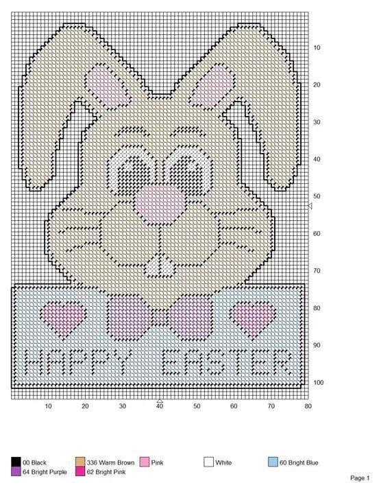 Cute Bunny   Plastic Canvas patterns   Pinterest   Patrones y Bordado