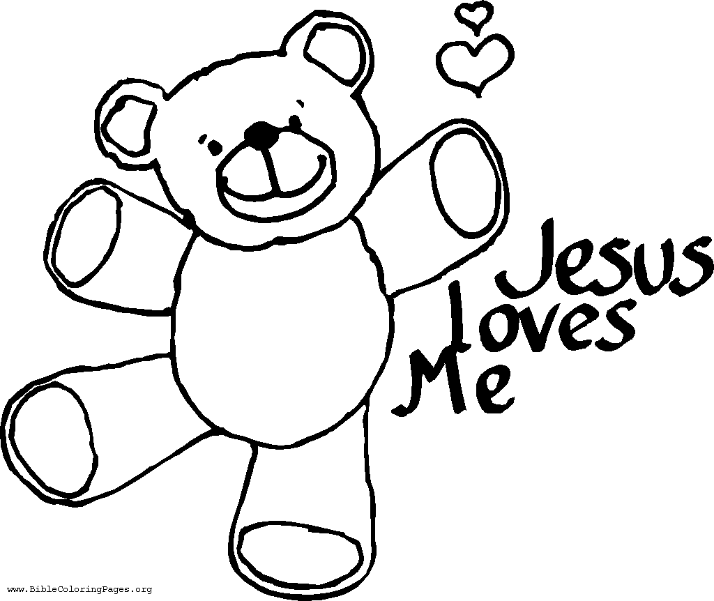 Sunday School Coloring Pages On Jesus Loves Me