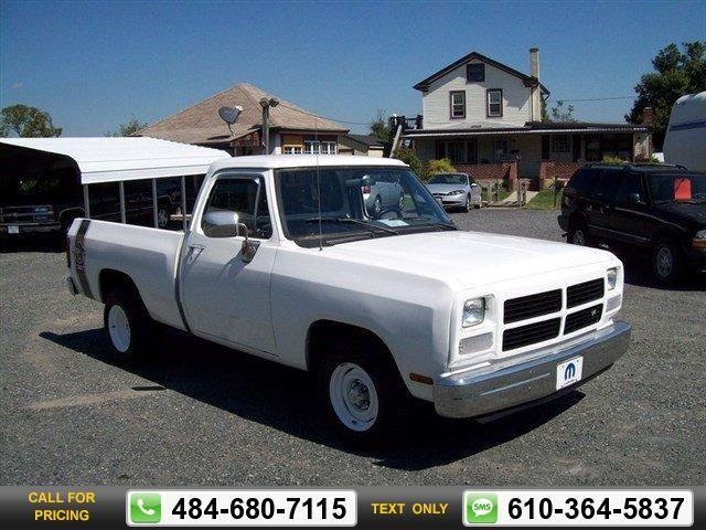 1992 Dodge D150 & W150  White $7,500 159898 miles 484-680-7115  #Dodge #D150 & W150 #used #cars #PartnersinCars #Gilbertsville #PA #tapcars