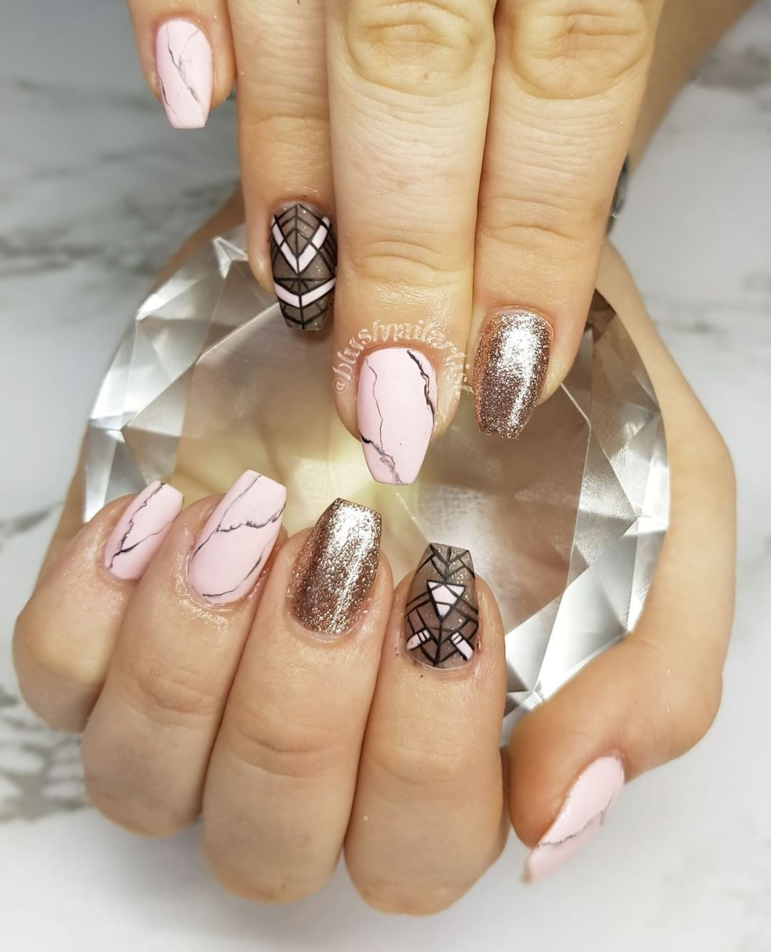 Beautiful Marble Affect Nail Art Design 1 Top Ideas To Try