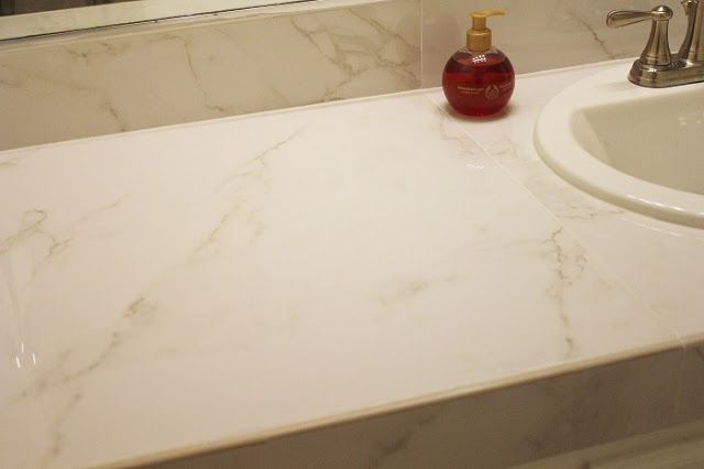 Replacing the Tile Vanity Top on A Budget - Bathroom Renovation