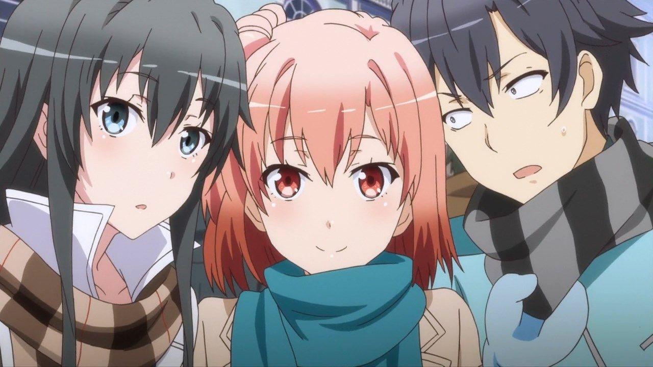 """Yukino """"Yukinon"""" Yukinoshita, Yui Yuigahama & Hachiman"""