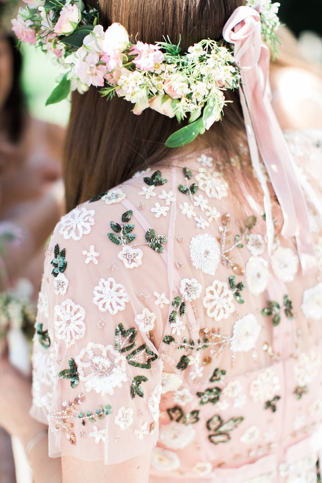 62107ac025e1a Needle & Thread Bridesmaids Dresses For A Pink And Mint At Home Marquee  With Fine Art Photography From Amy Fanton Photography