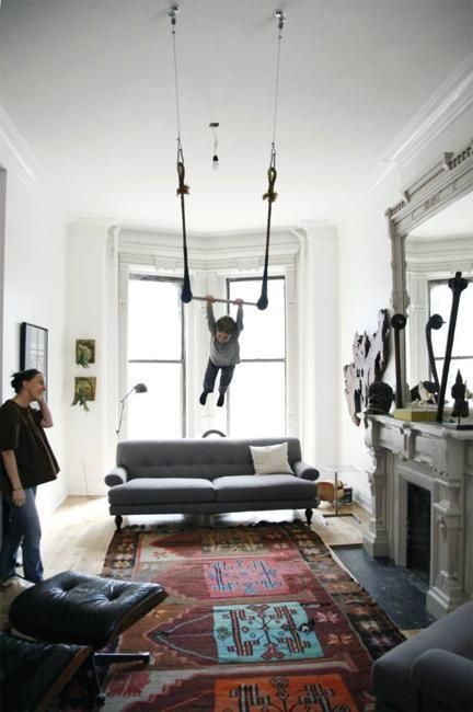 All  can see with this design here is right out the window interior ideas adding fun to room decor playful swings and hammock chairs also modern rh nl pinterest